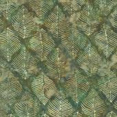 Splendor Batiks - Beech Leaves Forest Yardage