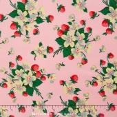 Fruta y Flor - Strawberry Bouquet Rose Yardage