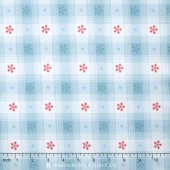 Simply Chic - Toile Check Sky Blue Yardage