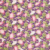 Morning Glory - Purple Multi Metallic Yardage