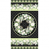 Bouquet - Bouquet Black Green Digitally Printed Panel