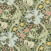 Morris Garden - Golden Lily 1897 Ebony Yardage