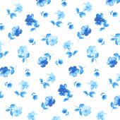 Bluebird - Tiny Flowers White Yardage