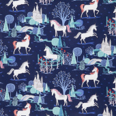 My Unicorn - Main Navy with Sparkle Yardage