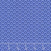 Dutchess - Scallop Blue Metallic Yardage
