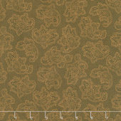 Gratitude and Grace - Dotted Paisley Brown Yardage