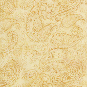 Flea Market Batiks - Paisley Outlining Light Smore Yardage