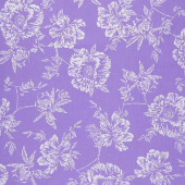 Violet Twilight - Pearl Shadow Flowers Pearlized Yardage