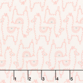 Soft & Sweet - Pink Llama Llama Love Cream Flannel Yardage