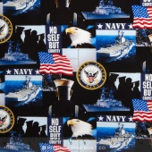 Military - Navy Allover Yardage