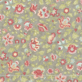 Porcelain - Flourish Dove Yardage