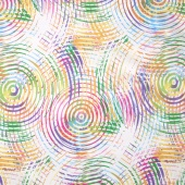 "Circle Play - Circle White Pastels 108"" Wide Backing"
