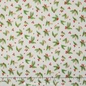 Songbird Christmas - Leaves & Berries Yardage