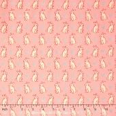 Radiant Girl - Bunnies & Hearts Pink Yardage