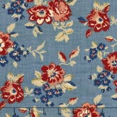 Faded Memories - Faded Main Blue Yardage