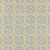 Bee Grateful - Dance of the Honeybee Pebble Grey Yardage