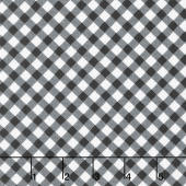 Greenery - Diagonal Check Black Yardage