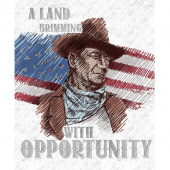 John Wayne Americana - John Wayne White Panel