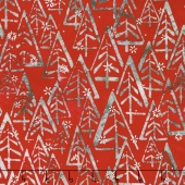 Artisan Batiks - Noel 5 Mod Trees Holiday Metallic Yardage