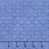 Indi-glow - Dotted Circles Blue Yardage