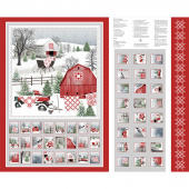 Holiday Heartland - Advent Calendar Gray Red Panel