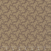 Baltimore House - Feathery Ferns Brown Yardage
