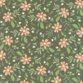 Summer Sweet - Garden Song Charcoal Yardage