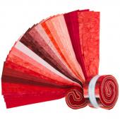 "Lava Batik Solids - Lipstick 2.5"" Strips"
