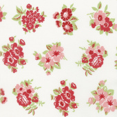 Little Snippets - Marmalade Floral Cream Yardage