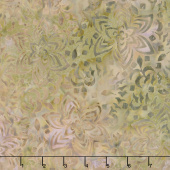 Tonga Batiks - Boathouse Gardenias Toffee Yardage
