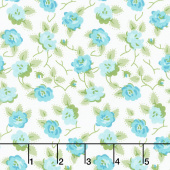 Granny Chic - Dishes Blue Yardage