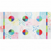 Modern Backgrounds Colorbox - Cheater Quilt White Panel