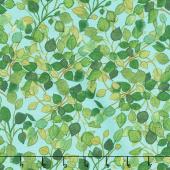 Radiance - Lacey Leaves Turquoise Yardage
