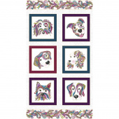 Dog On It - White Multi Metallic Panel