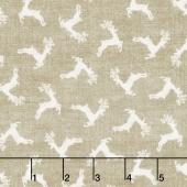 Scandi 4 - Deer Scatter Linen Yardage