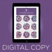 Digital Download - Checkered Dresden Quilt Pattern by MSQC