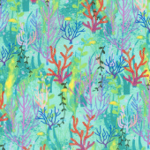Octopus Garden - Coral Marine Digitally Printed Yardage