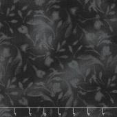 Paradise - Diffused Tonal Charcoal Black Yardage