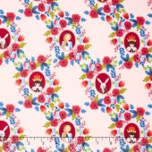 Wonderland - Cameos Rose Yardage