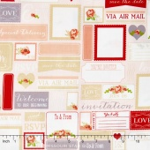 Rustic Elegance - Labels Peach Yardage