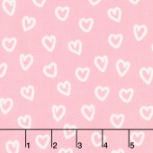 Penned Pals - Pink Colorstory Hearts Pink Yardage