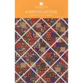 4-Patch Lattice Quilt Pattern by MSQC