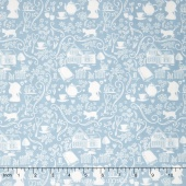 Anne of Green Gables - Anne Silhouette Blue Yardage