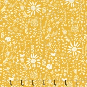 Wild Nectar - Wildflowers Gold Yardage