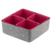 Felt Storage Bin - Pink