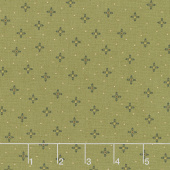 October Morning - Acorn Blossoms Green Yardage