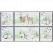 Winter White: Solstice - Winter Animals Metallic Panel