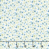 Garden Gate - Mini Floral Blue Yardage