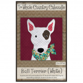 Bull Terrier White Precut Fused Appliqué Pack