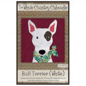 Bull Terrier White Precut Fused Appliqué Pack